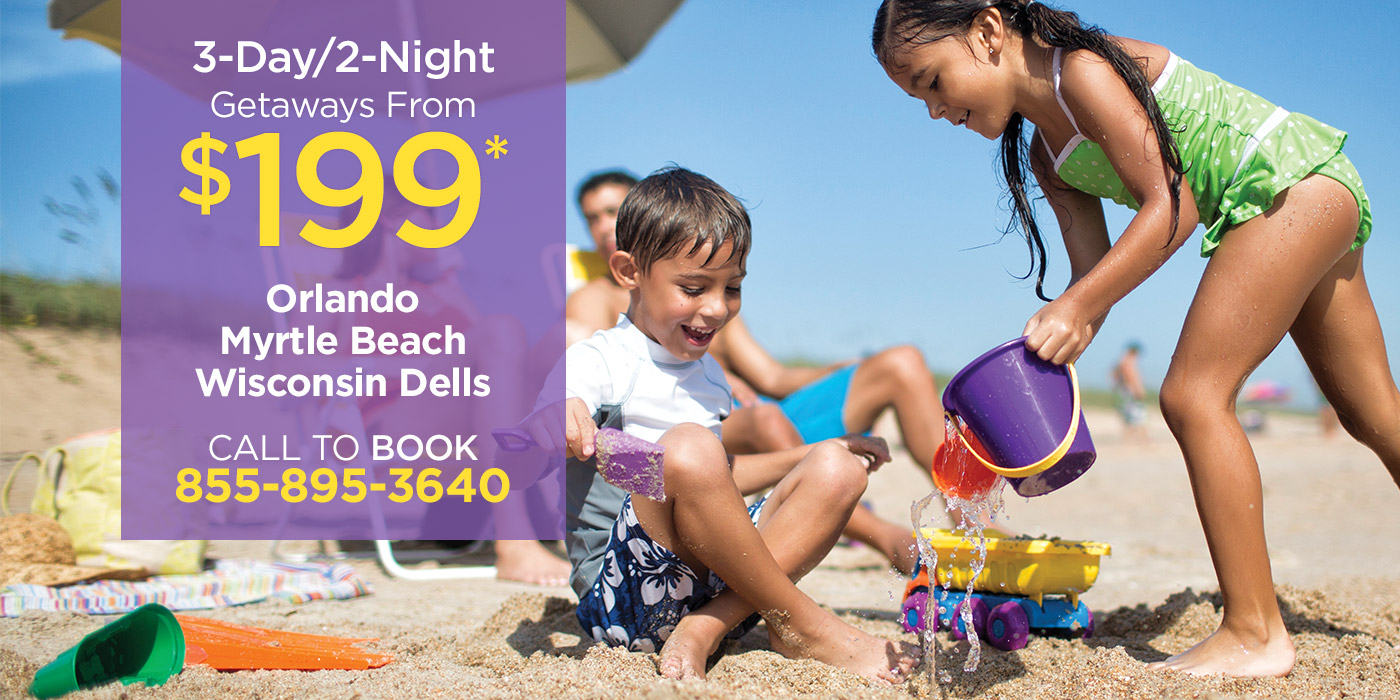 Enjoy a 2–night getaway starting at $199!